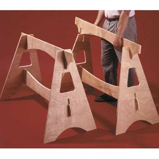 View a Larger Image of Downloadable Woodworking Project Plan to Build Knockdown Sawhorses