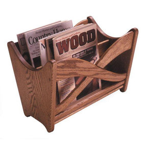 Downloadable Woodworking Project Plan to Build Magazine Rack
