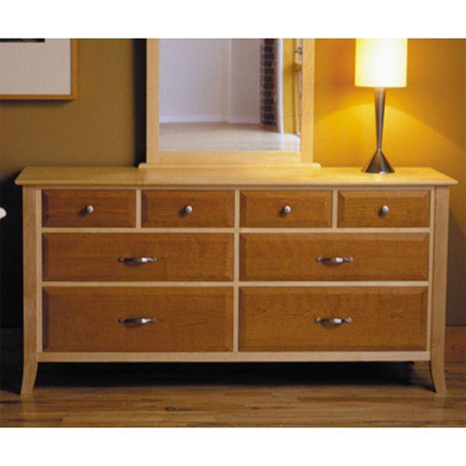 View a Larger Image of Downloadable Woodworking Project Plan to Build Maple & Cherry Eight-Drawer Dresser