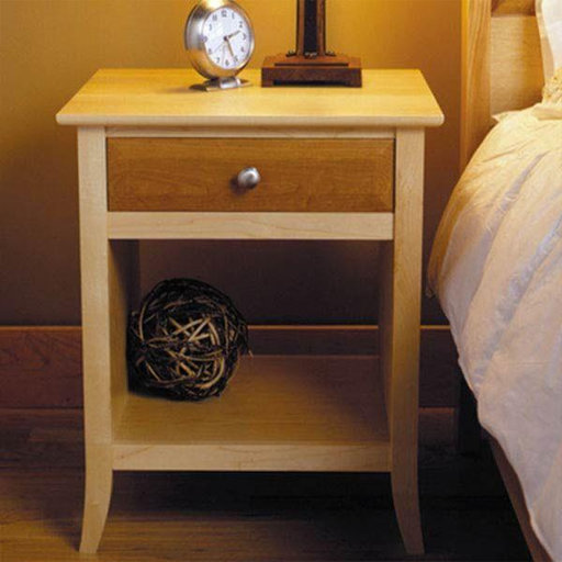 Downloadable woodworking project plan to build maple for Free nightstand woodworking plans