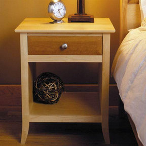 Downloadable Woodworking Project Plan to Build Maple & Cherry Nightstand