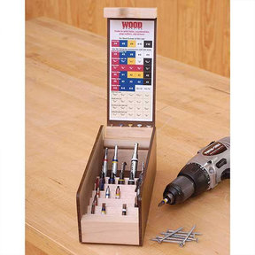 Downloadable Woodworking Project Plan to Build Multi Drill/Driver Organizer