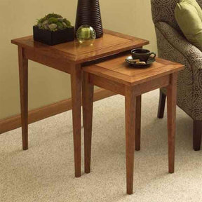 Downloadable Woodworking Project Plan to Build Perfect-Pair of Nesting Tables
