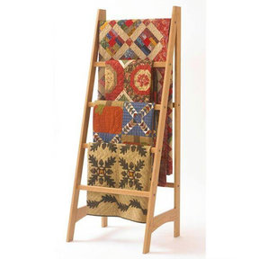 Downloadable Woodworking Project Plan to Build Quilt Ladder