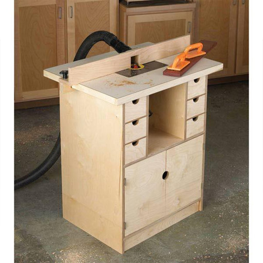 View a Larger Image of Downloadable Woodworking Project Plan to Build Router Table and Organizer