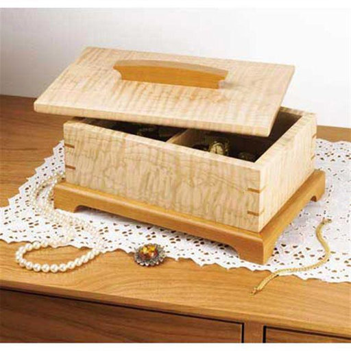 View a Larger Image of Downloadable Woodworking Project Plan to Build Secret-Compartment Jewelry Box