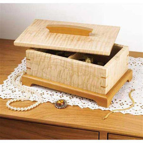 Downloadable Woodworking Project Plan to Build Secret-Compartment Jewelry Box