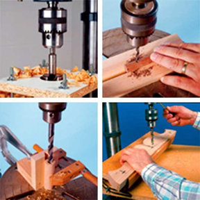 Downloadable Woodworking Project Plan to Build Seven Drill-Press Jigs