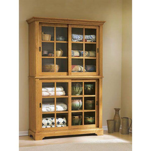 View a Larger Image of Downloadable Woodworking Project Plan to Build Sliding-Door Cupboard