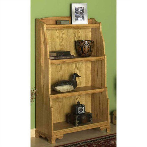 View a Larger Image of Downloadable Woodworking Project Plan to Build Solid Oak Bookcase
