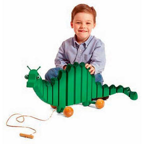 Downloadable Woodworking Project Plan to Build Swinging Toy Dragon