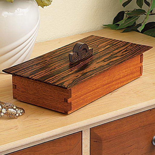 View a Larger Image of Downloadable Woodworking Project Plan to Build Tabletop Treasure Box