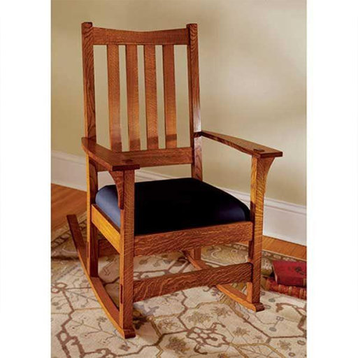 View a Larger Image of Downloadable Woodworking Project Plan to Build Two-In-One Arts and Crafts Chair/Rocker