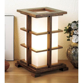 Downloadable Woodworking Project Plan to Build Warm-glow Accent Lamp