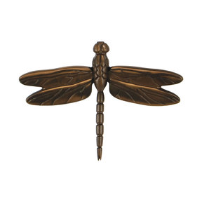 Dragonfly Door Knocker - Oiled Bronze