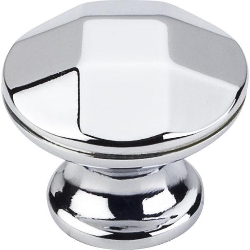 """View a Larger Image of Drake Faceted Geometric Knob, 1-3/16"""" Dia.,  Polished Chrome"""