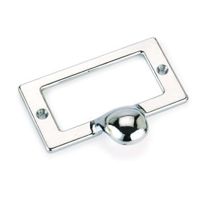 Drawer Pull with Card Holder, Chrome Finish