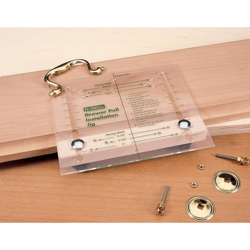 View a Larger Image of DrillRite Cabinet Door Drawer Pull Drilling Jig