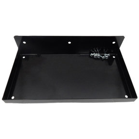 "DuraHook® 12""W x 6""D Steel Shelf for Duraboard® or 1/8"" & 1/4"" Pegboard, Black"