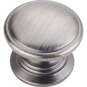 "Durham Knob, 1-1/4"" Dia.,  Brushed Pewter"
