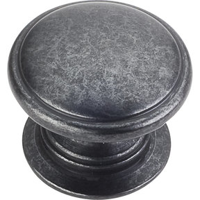 "Durham Knob, 1-1/4"" Dia.,  Gun Metal"