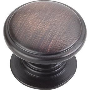 "Durham Knob, 1-1/4"" Dia.,  Brushed Oil Rubbed Bronze"
