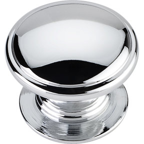 "Durham Knob, 1-1/4"" Dia.,  Polished Chrome"