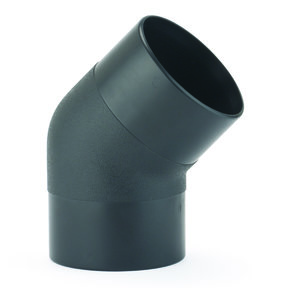 "Dust Collection Fitting, 45-degree Elbow, 4"" OD"