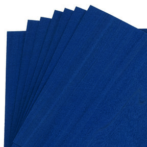 "Dyed Navy Blue Veneer 8"" x 8"" 7-piece"