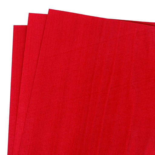 "View a Larger Image of Dyed Red Veneer 12"" x 12"" 3-piece"