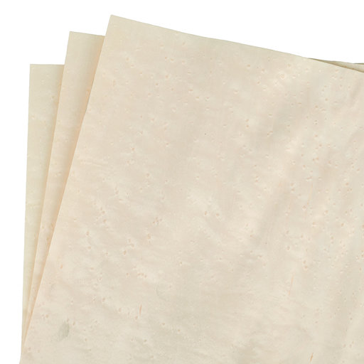 """View a Larger Image of 12"""" x 12"""" 3 pc Pack White Dyed Wood Veneer"""