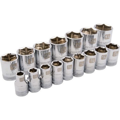 """View a Larger Image of Tools 1/2"""" Drive 16pc 6-Point Standard SAE Socket Set, 3/8"""" - 1-5/16"""""""