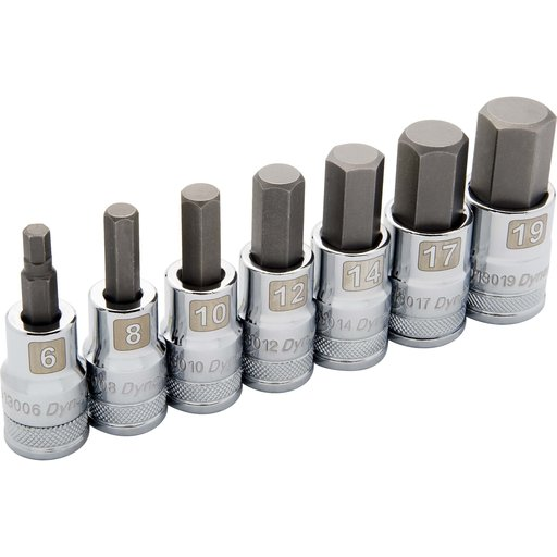"""View a Larger Image of Tools 1/2"""" Drive 7pc Metric Standard Hex Socket Set, 6mm - 19mm"""