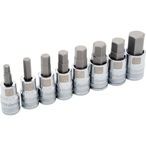 """View a Larger Image of Tools 1/2"""" Drive 8pc Standard SAE Hex Socket Set, 1/4"""" - 3/4"""""""