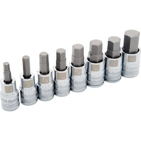 "Tools 1/2"" Drive 8pc Standard SAE Hex Socket Set, 1/4"" - 3/4"""