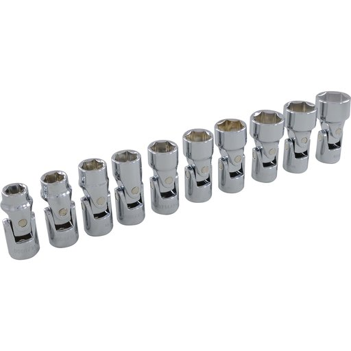 "View a Larger Image of Tools 3/8"" Drive 10pc 6-Point Metric Universal Joint Socket Set, 10mm - 19mm"
