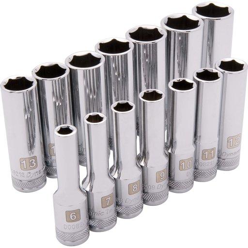 "View a Larger Image of Tools 3/8"" Drive 14pc 6-Point Deep Metric Socket Set, 6mm - 19mm"