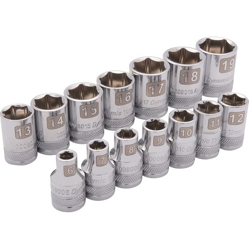 "View a Larger Image of Tools 3/8"" Drive 14pc 6-Point Standard Metric Socket Set, 6mm - 19mm"