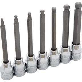 "Tools 3/8"" Drive 7pc SAE Long Ball Nose Hex Socket Set, 1/8"" - 3/8"""