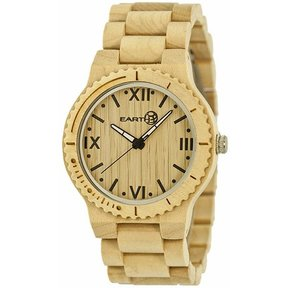 Earth Ew3501 Bighorn Wood Watch, Khaki/Tan