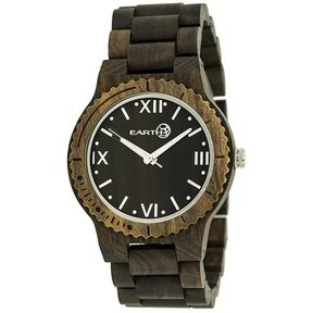 Earth Ew3502 Bighorn Wood Watch, Dark Brown