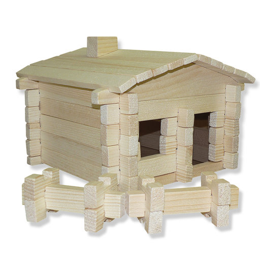 View a Larger Image of Earth Friendly Log Cabin 83 pc Set