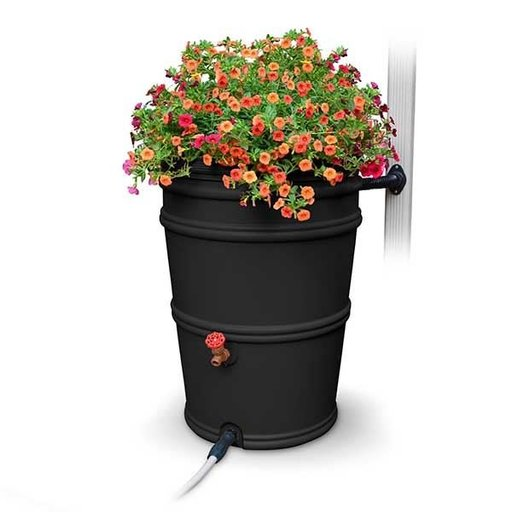 View a Larger Image of RainStation™ 45 Gallon Rain Barrel, Charcoal