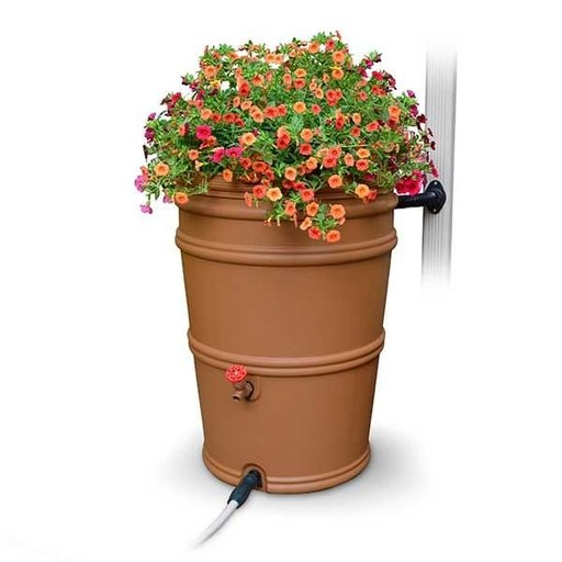 View a Larger Image of RainStation™ 45 Gallon Rain Barrel, Terracotta