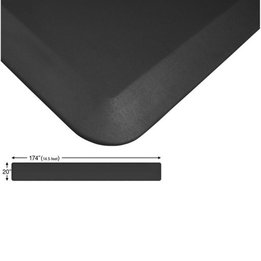 "View a Larger Image of Eco-Pro Continuous Comfort Mat, Black, 20"" x 174"""