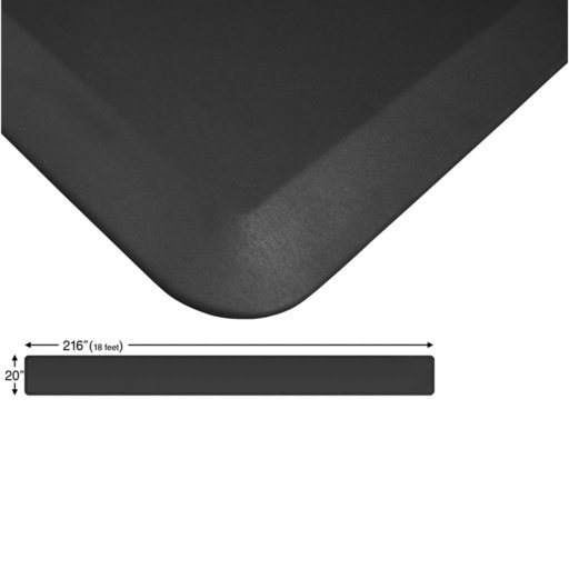 "View a Larger Image of Eco-Pro Continuous Comfort Mat, Black, 20"" x 216"""