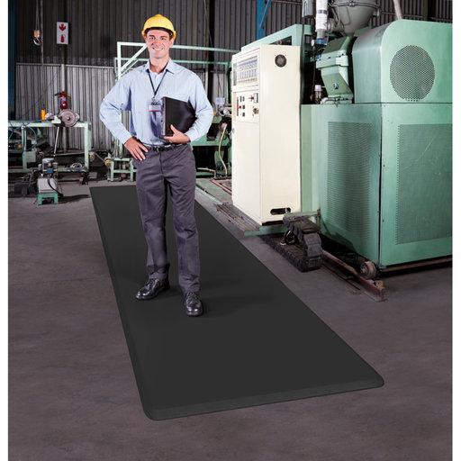 "View a Larger Image of Eco-Pro Continuous Comfort Mat, Black, 24"" x 246"""