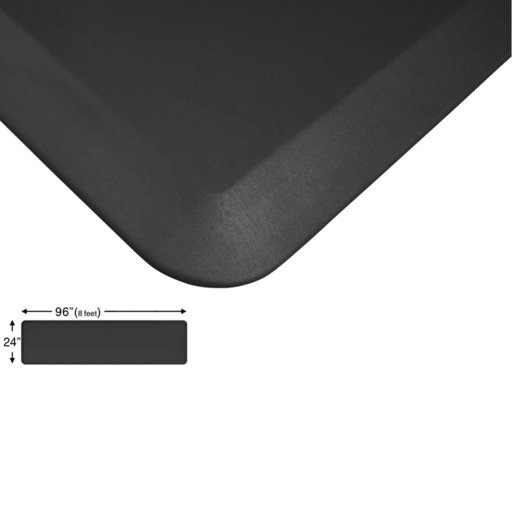 "View a Larger Image of Eco-Pro Continuous Comfort Mat, Black, 24"" x 96"""