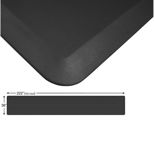 "View a Larger Image of Eco-Pro Continuous Comfort Mat, Black, 36"" x 222"""