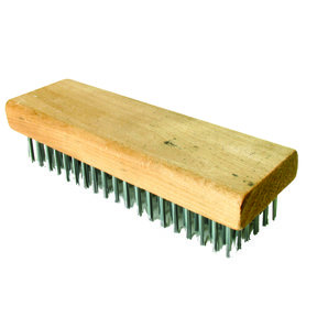 """Econo Curved Handle Wire Brush 7-1/4"""" X 2-1/4"""" with Scraper"""